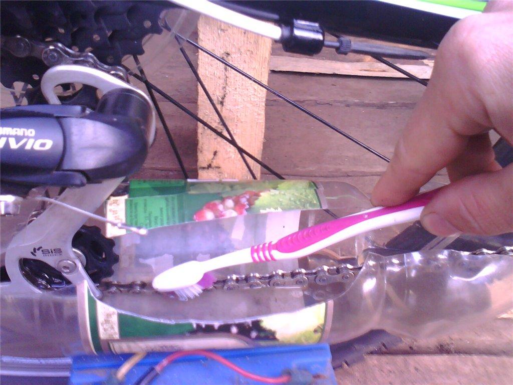 Машинка для чистки цепи мотоцикла своими руками